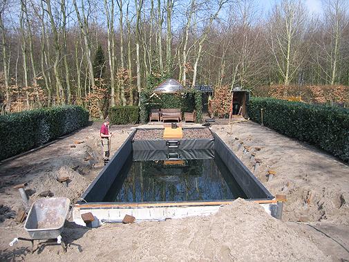 Gerealiseerd project heerenveen venhuis vijverbouw bv for Zwemvijver zelf bouwen